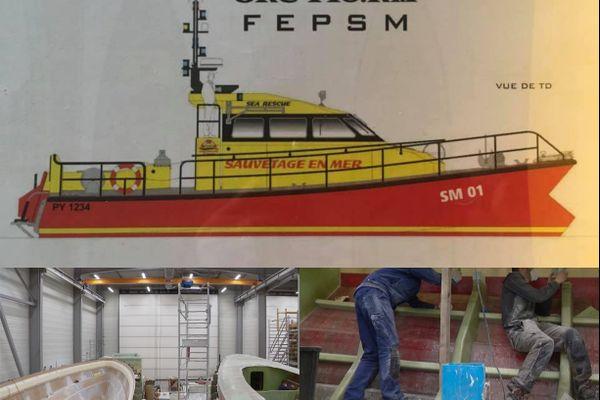 premier bateau de sauvetage marquisien en construction