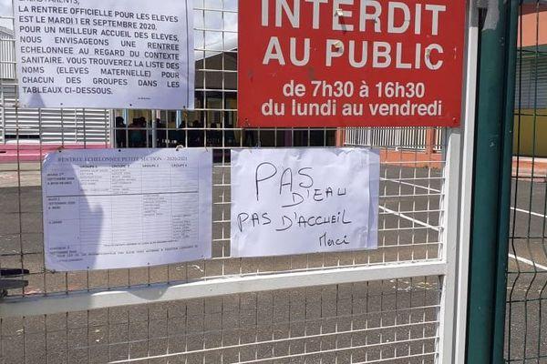 Ecole Gérard Lauriette fermée sans eau