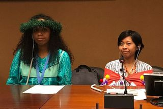 Ileen Colom et Yolène Koteureu sont venues à Genève représenter leur peuple devant l'ONU