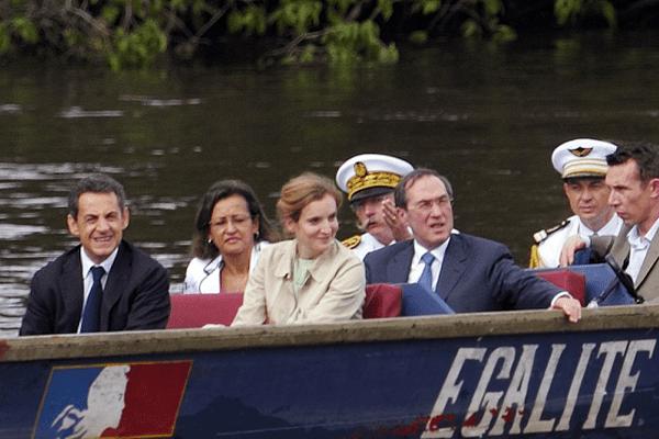 Nicolas Sarkozy en Guyane en 2012.