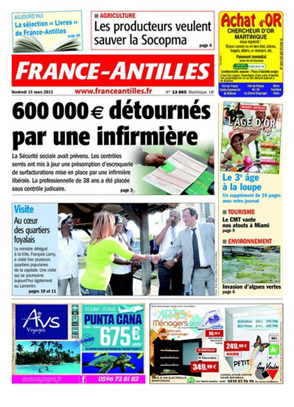 France Antilles Martinique 15 mars 2013