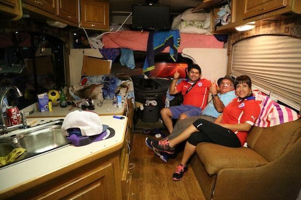 Intérieur du camping car