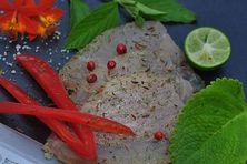 Assiette de poisson fumé conçu par l'artisan Clément.