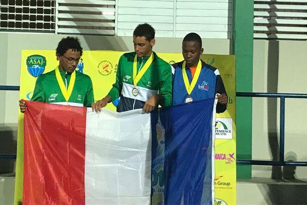 podium 1500m nage libre
