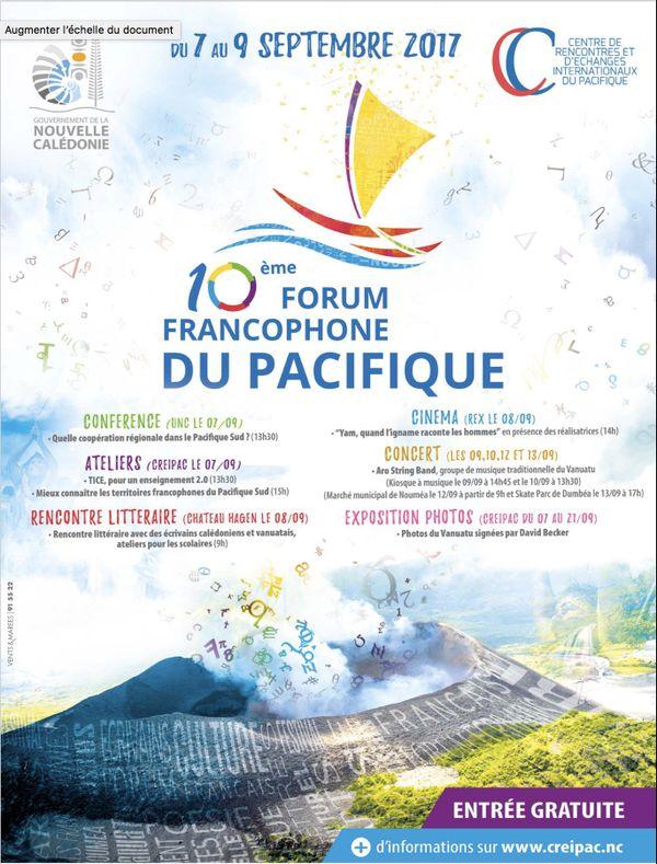 Affiche du dixième Forum francophone du Pacifique