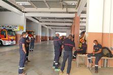 Les sapeurs-pompiers de la caserne de Fort-de-France en grève