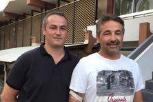 Fabien et Mickaël Santurenne, les deux fils du pilote d'Air Moorea, qui ont fait spécialement le déplacement pour le procès.