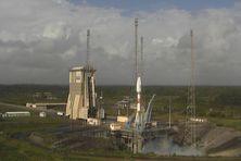 La fusée Soyouz  sur son pas de tir (image archive)