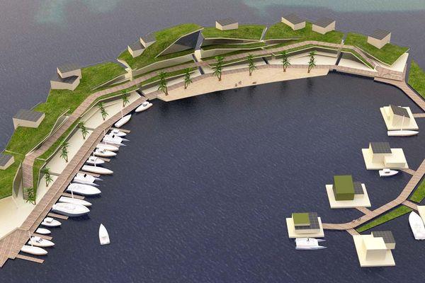 Projet d'île flottante