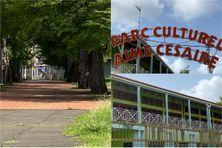 Jardin et locaux du SERMAC, au parc culturel Aimé Césaire à Fort-de-France.