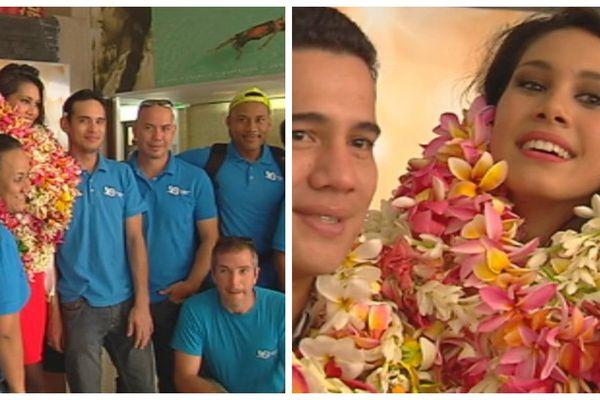 arrivée Miss Tahiti