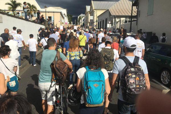 Manifestants rue de la Victoire Saint denis
