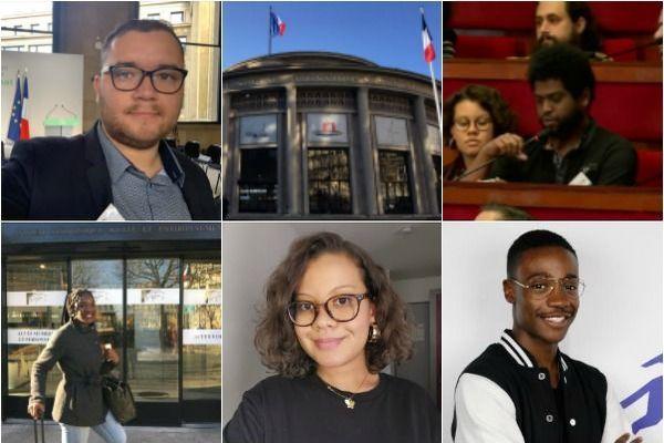 Les cinq membres originaires des Outre-mer de la Convention citoyenne pour le climat