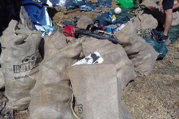 Plusieurs kilos de déchets ont été ramassés par les bénévoles lors du World CleanUp Day à Saint-Denis.