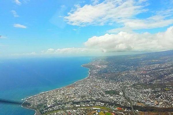 La Réunion vue du ciel Saint-Denis Septembre 2020