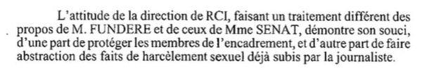 Harcèlement RCI