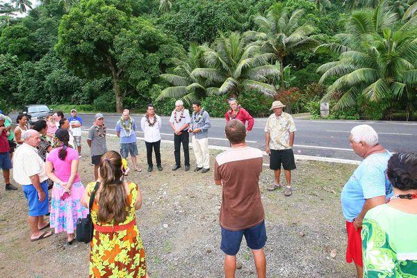 Inauguration des 3 km de routes rénovés à Moorea