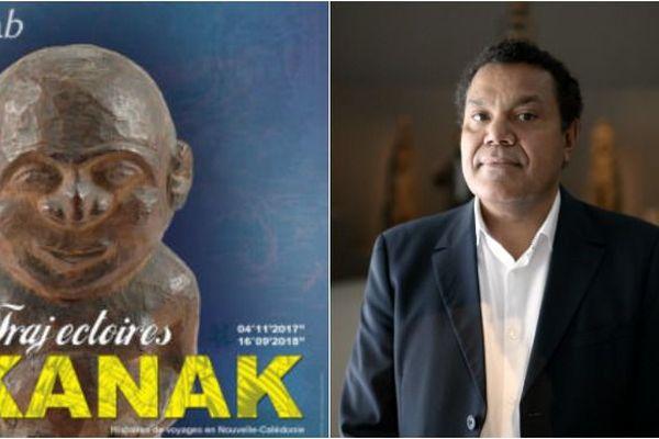 Expo Trajectoires kanak et son commissaire scientifique Emmanuel Kasarhérou