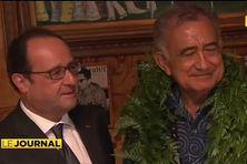 Oscar Temaru a reçu Francois Hollande en privé lors de la visite du chef de l'Etat en février dernier.