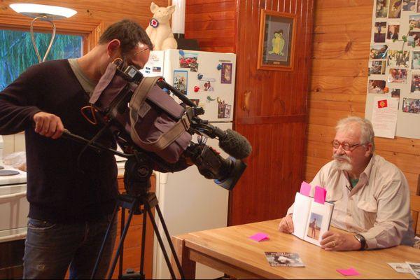 Bertrand Cadart, French Mayor, dans son fief de Tasmanie, en 2012, lors du tournage d'un documentaire destiné à TF1.