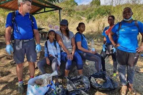 Opération de nettoyage de déchets