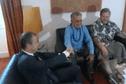 Oscar Temaru en Corse pour chercher des parrainages en vue de la présidentielle 2017