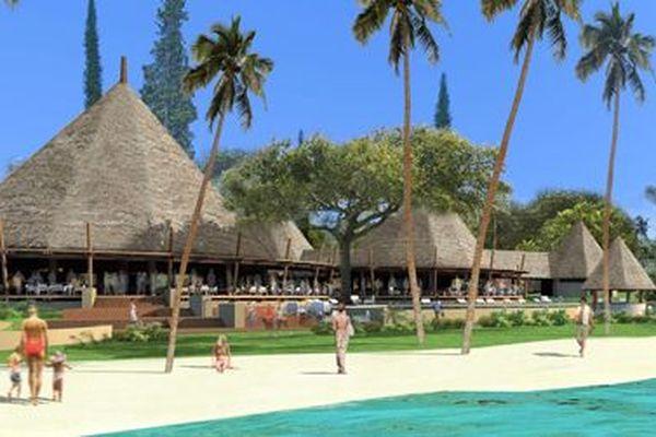 Vue du Hilton Lifou Wadra bay resort