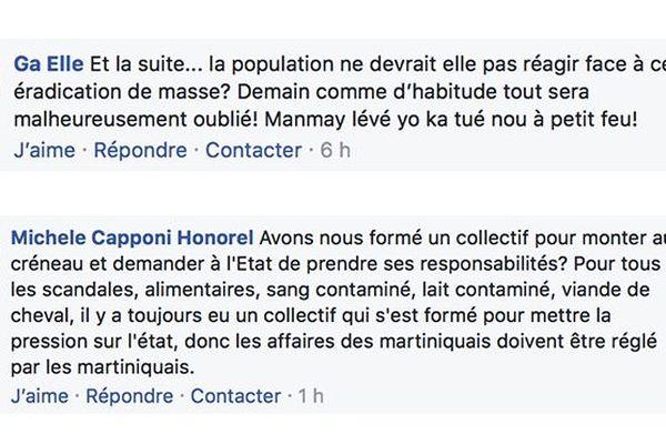 Post Facebook réagir Chlordécone