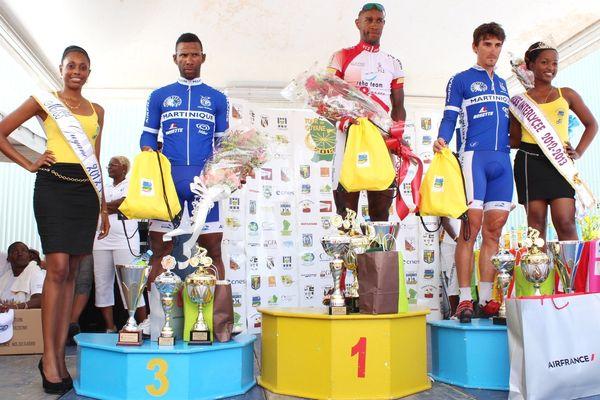 Le podium de la quatrième étape