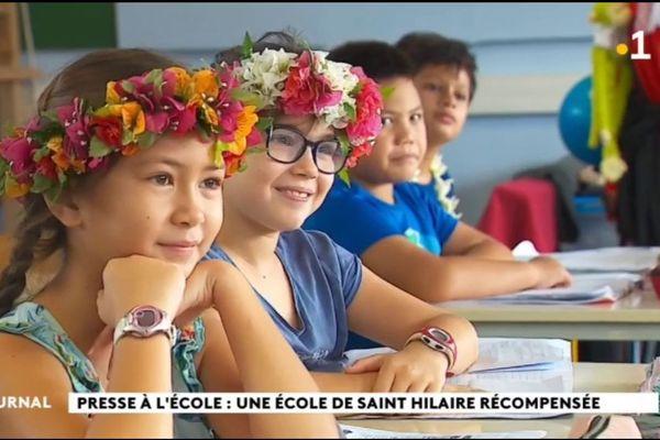 Presse à l'école, les CE2 de St Hilaire récompensés