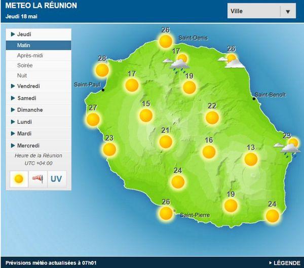 Carte météo 18 mai 2017