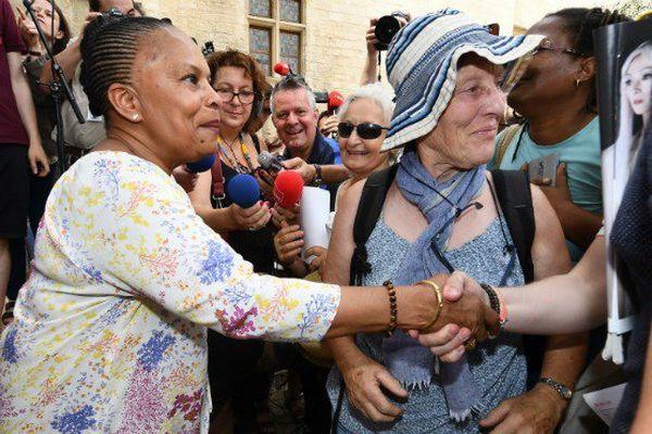 Christiane Taubira au Festival d'Avignon, samedi 8 juillet 2017.