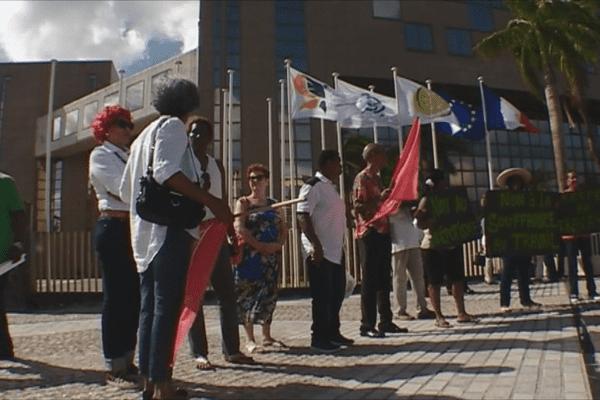 Manifestation devant la CTM