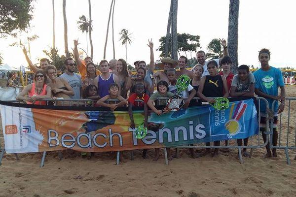 L'équipe du beach tennis