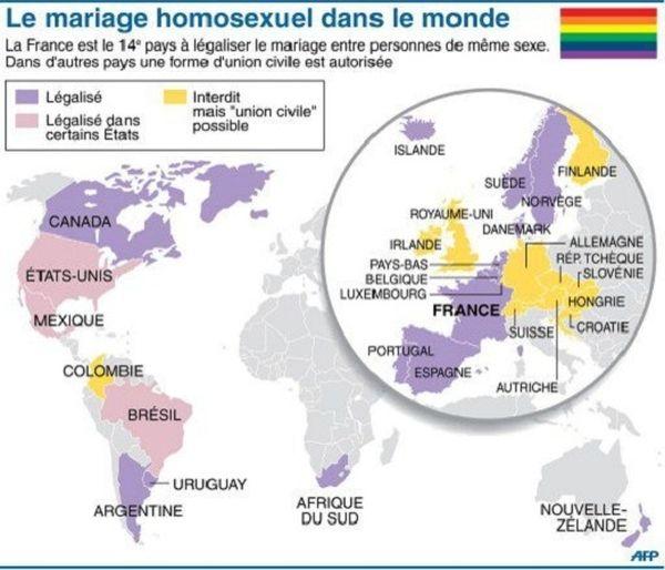 Le mariage gay dans le monde