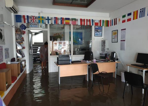 Inondation brutale rue jean-Jaurès, 12 novembre 2020