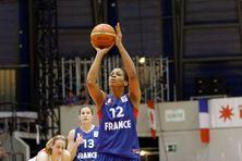 Murielle Amant sous le maillot de l'équipe de France