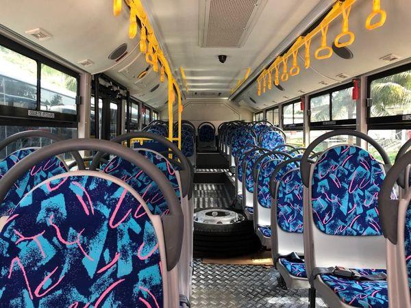 Intérieur des bus