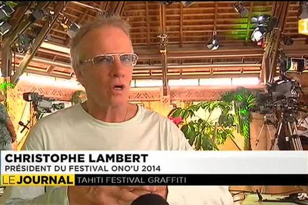 Christophe Lambert préside le jury du Tahiti festival Graffiti