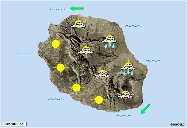 carte météo du 5 juin 2018