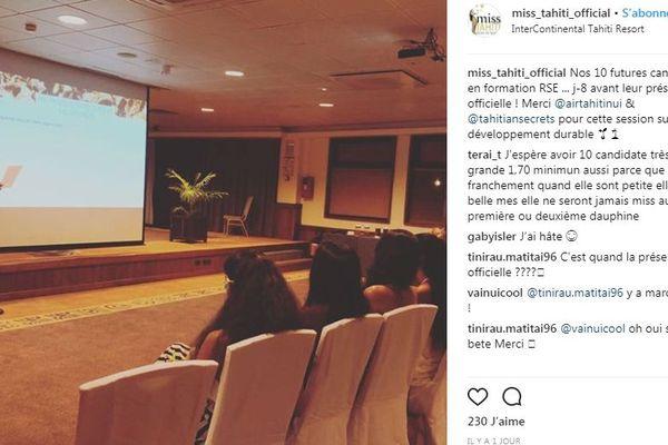 Miss Tahiti candidates 2018