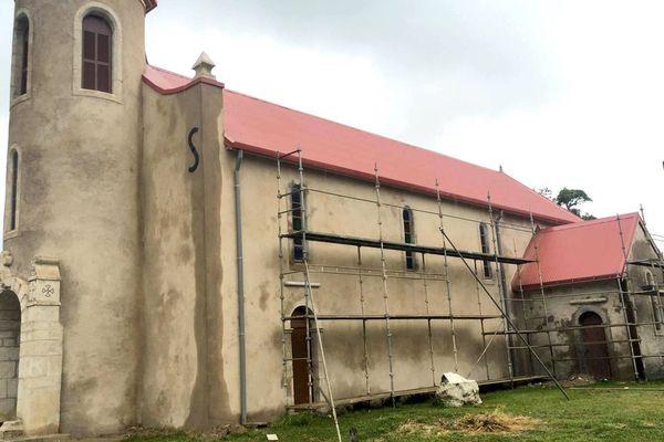 Eglise de Touho mission fin rénovation vue générale (juin 2017)