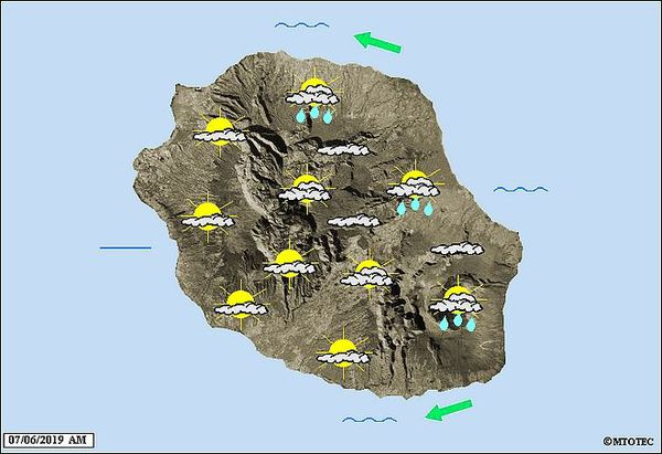 Carte météo 7 juin 2019