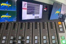 Une partie du studio de diffusion de Fusion TV.
