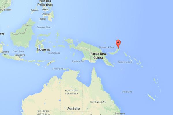 Kokopo, sur l'île de Nouvelle-Bretagne