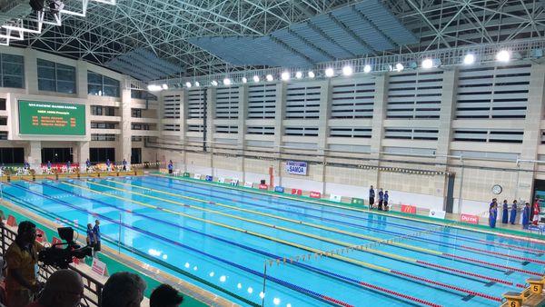 Samoa 2019, finales de natation, centre aquatique d'Apia