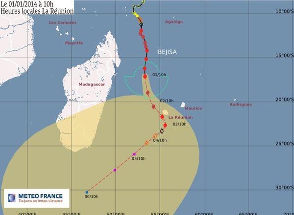 Bejisa à 470 km de La Réunion