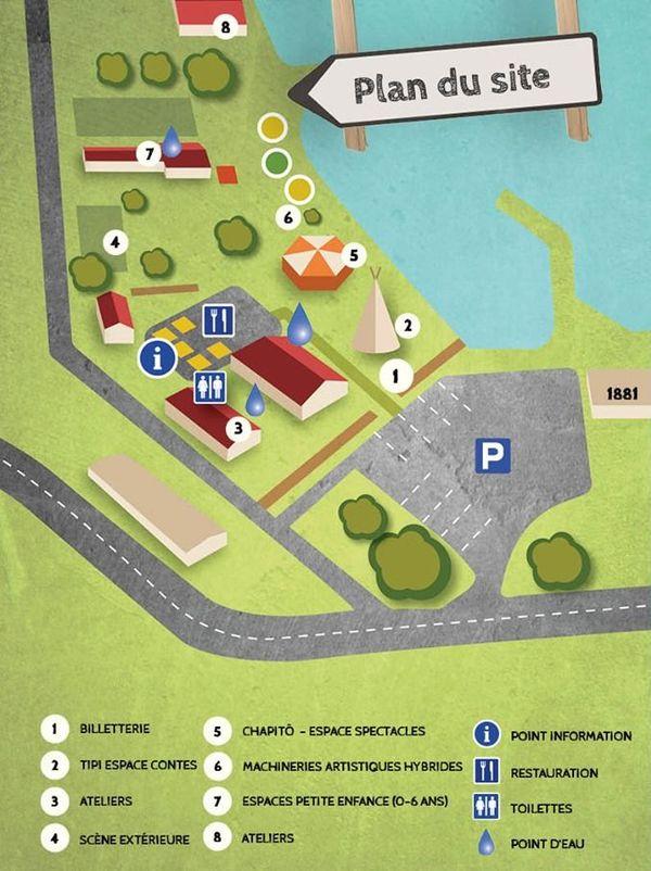 Plan du site de Pikinini 2019