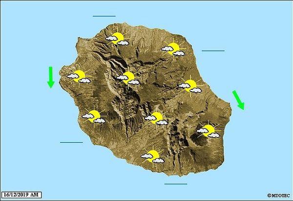 Carte météo 16 décembre 2019