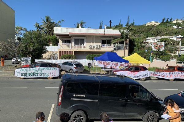Mobilisation au tribunal où sont présentés les gens de l'Ican, 7 mai 2021